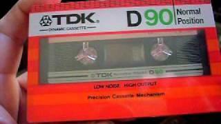 Vintage TDK D90 audio cassettes 1982, 1983