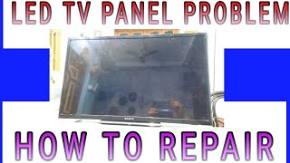 "LCD LED TV SONY 28"" BACK LIGHT OK BUT NO DISPLAY PROBLEM SOLVE"