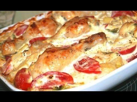 курица в духовке в сметанном соусе рецепт с фото