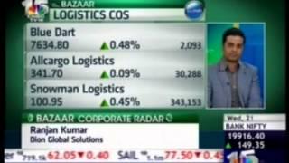 Yogesh Dhingra - CFO &  COO, Blue Dart - Interview on CNBC Bazaar Corporate Radar 21 Jan 2015
