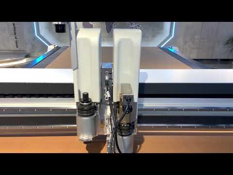 IECHO BK4 cutting machine cuts suede with 400mm/s speed