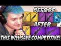 Ninja GOES OFF Explaining Why HEAVY SNIPERS & MINIGUNS Should Take 2 Slots Each To SAVE Competitive!