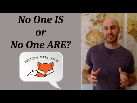 'No one IS' or 'No one ARE'? Which is Correct????