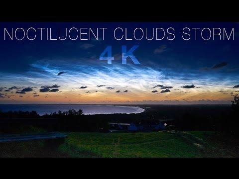 NOCTILUCENT CLOUDS STORM 4K - July 12-14th 2016, Denmark
