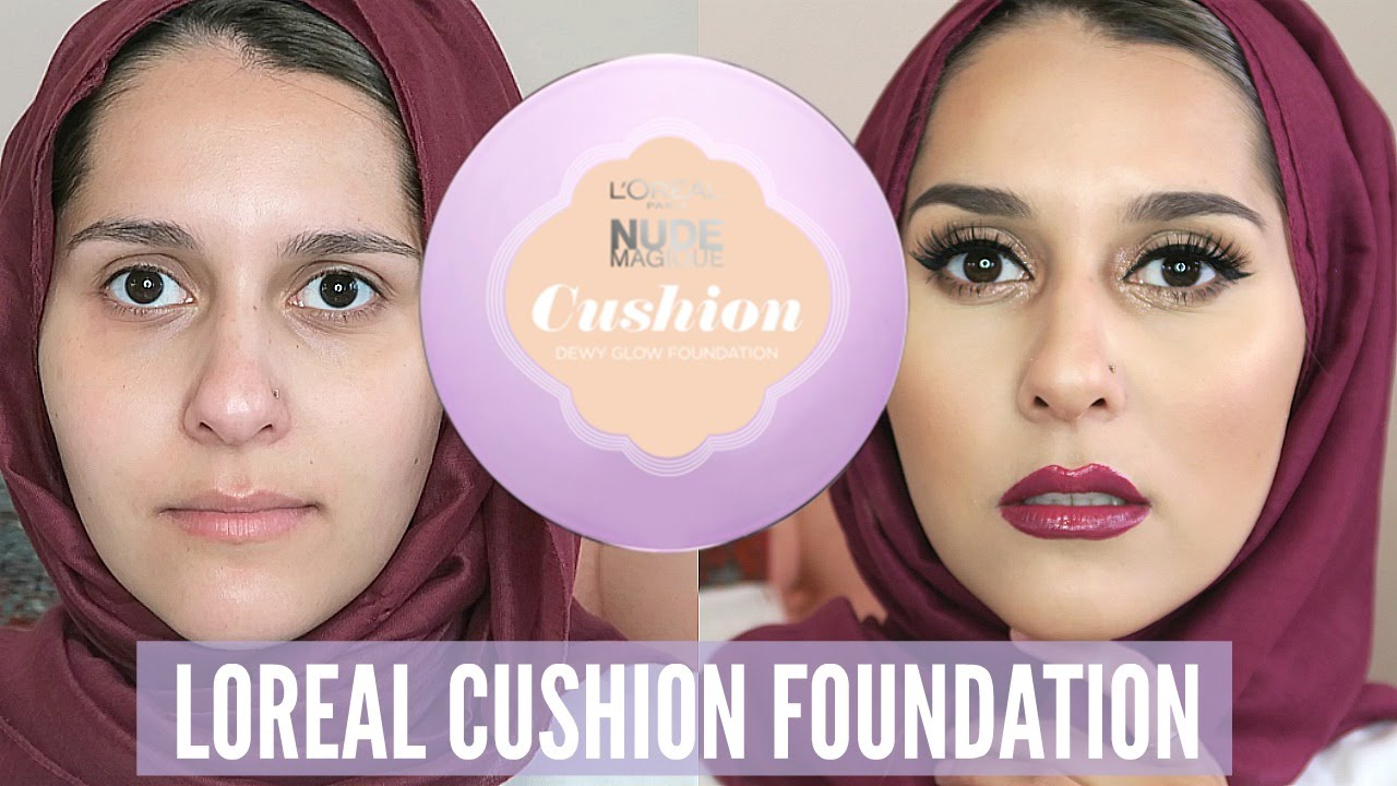 Cushion Foundation First Impressions On The Loreal Nude Magique Bedak Youtube