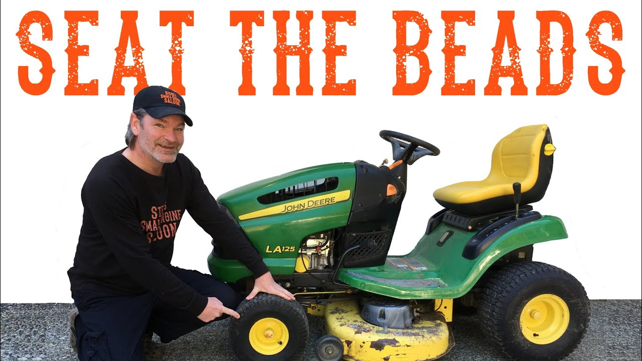 How To Seat The Beads On A New Riding Lawn Mower Tractor Tire