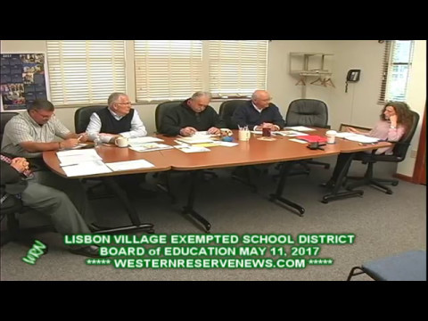 LISBON COLUMBIANA COUNTY OHIO BOARD of EDUCATION MAY 11, 2017