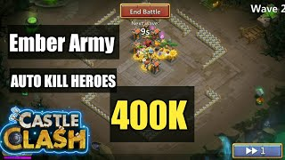 Castle Clash | Ember Army | Auto Killing machine Heroes