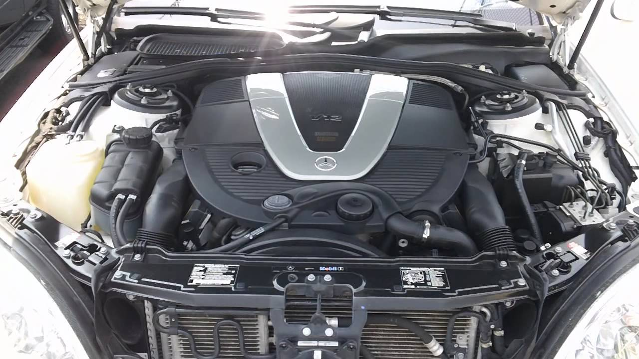 2003 s600 v12 twin turbo engine start youtube for Mercedes benz v12 twin turbo