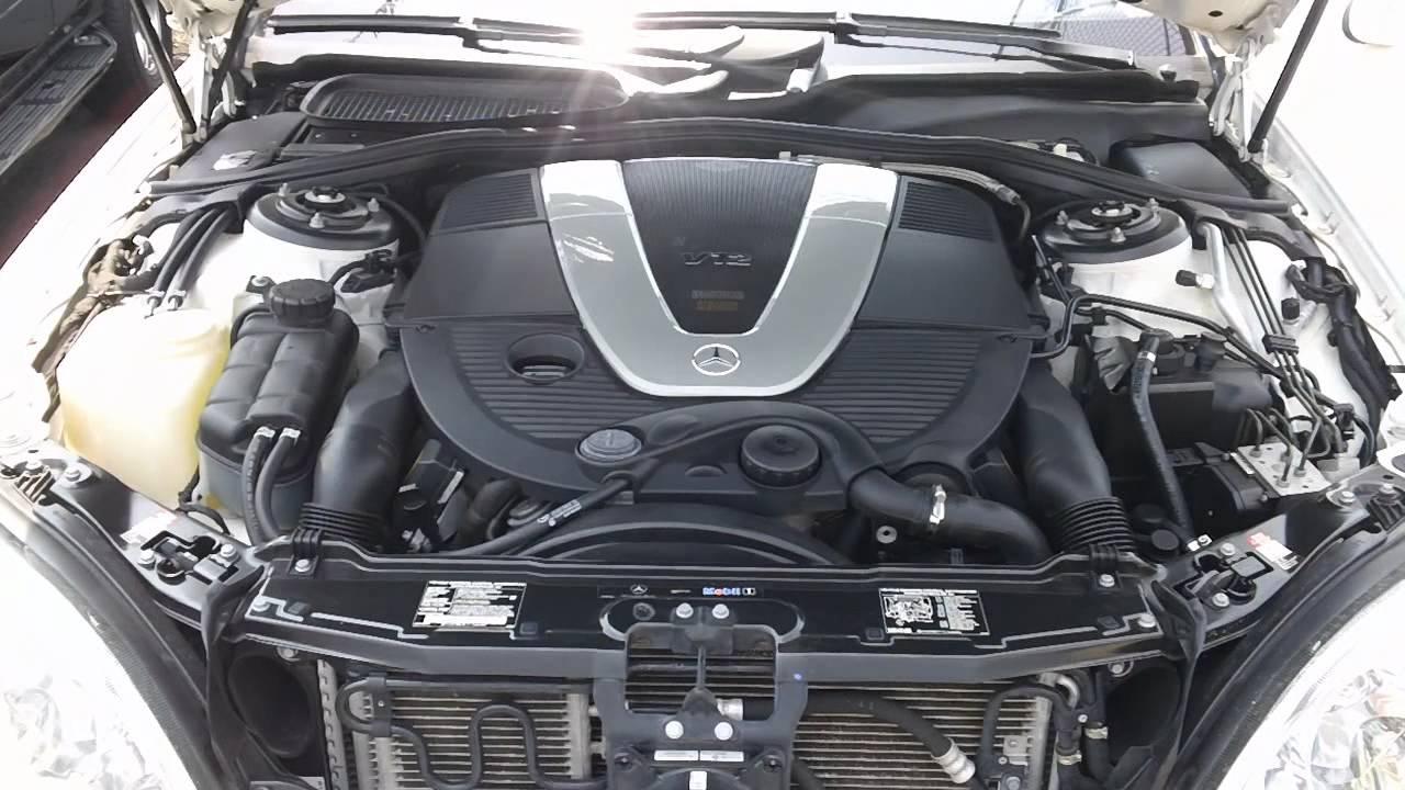 2003 s600 v12 twin turbo engine start youtube for Mercedes benz v 12 engine