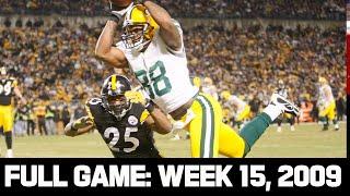 Rodgers \u0026 Roethlisberger Shoot Out! Packers vs. Steelers Week 15 2009 Full Game