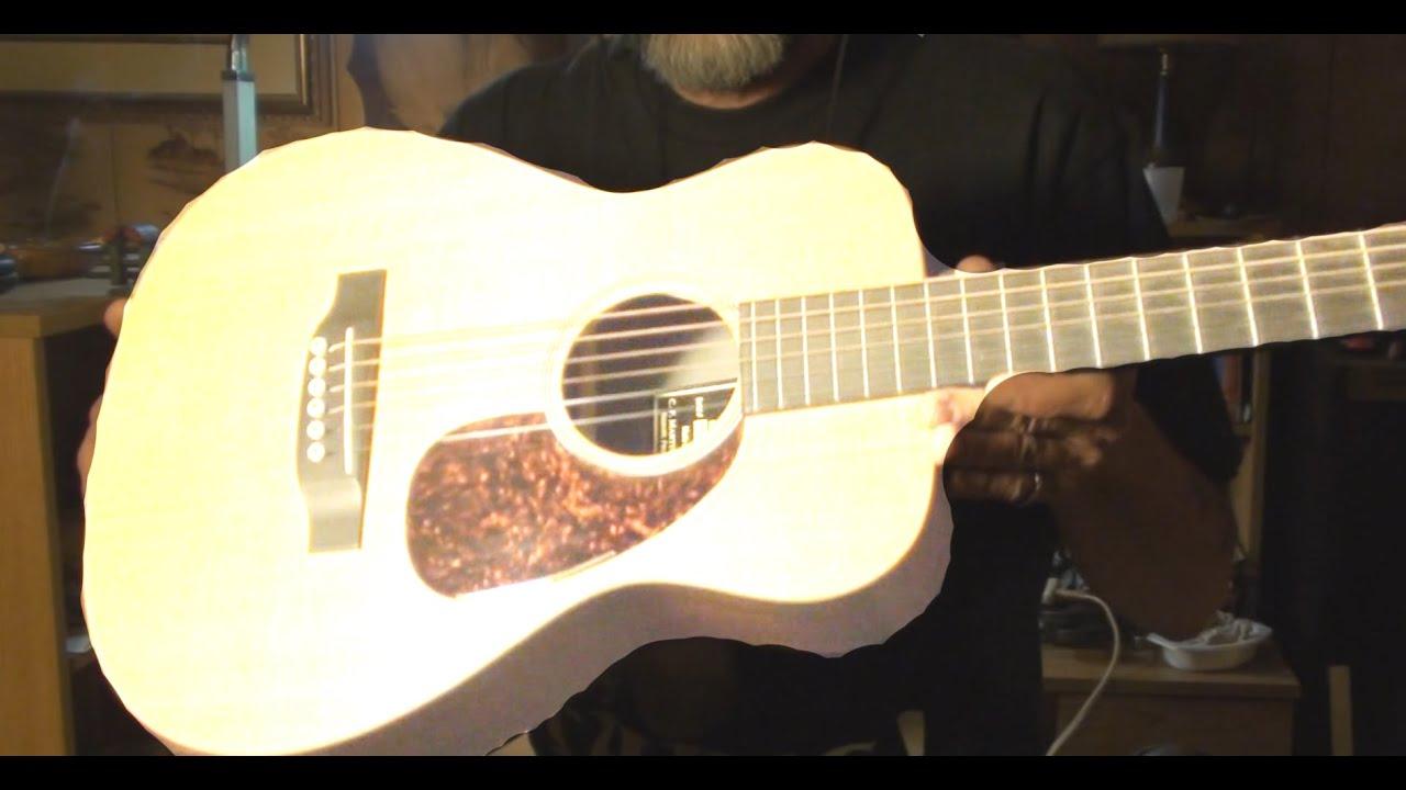 Little Martin LX1 acoustic guitar setup and gets pick guard neck relief set