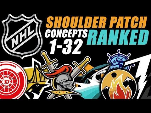 NHL Shoulder Patch Concepts RANKED 1-32! Seattle Kraken Included!