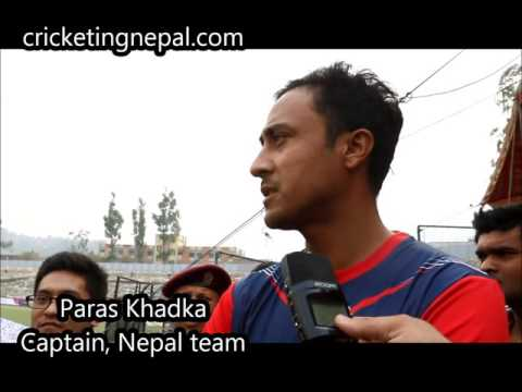 Paras Khadka captain of Nepali cricket team speaks after match against Namibia