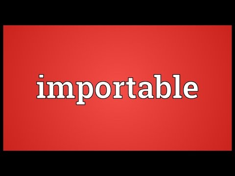 Header of importable