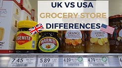 DIFFERENCES BETWEEN AMERICAN AND BRITISH GROCERY STORES (UK VS USA GROCERY STORES)