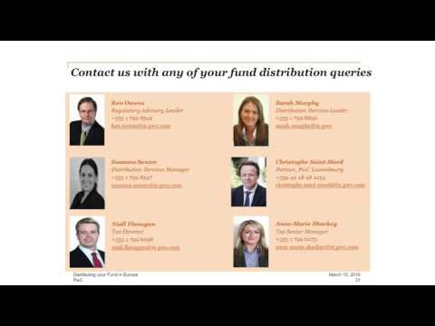 Part 7: Distributing your fund in Europe - How can we help you?