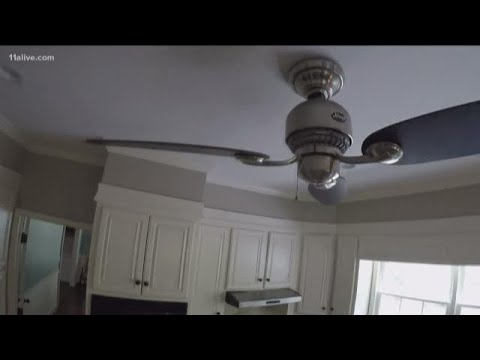 Why does dust gather on the ceiling fan?
