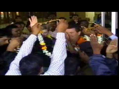 David Hooker arrives in Bhubaneswar, India.