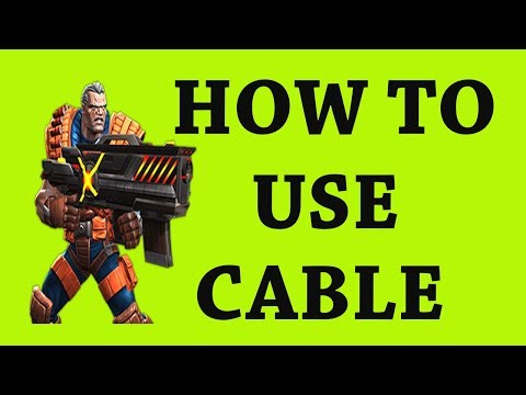 how to use cable marvel contest of champion