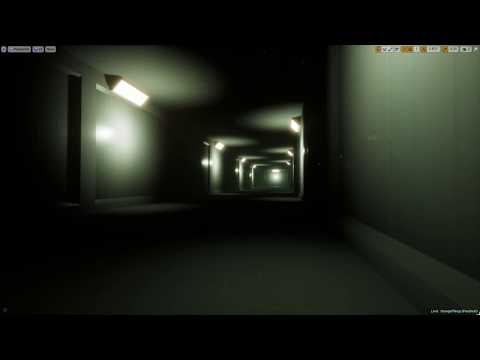 Unreal Engine 4 Stranger Things Hawkins National laboratory hallway 2