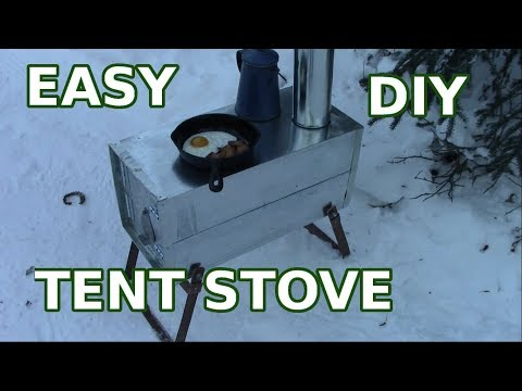 Make A Simple Cheap Tent Wood stove - Part 1