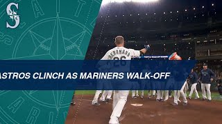 Astros clinch as the Mariners walk off the Athletics