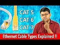 What Ethernet Cable to Use? Cat5? Cat6? Cat7? Explained in Hindi