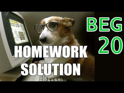 |Homework 20| Beginner C++ Game Programming