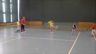 """Тренировка детей 4-5 лет в Теннисном Клубе """"Вулкан"""". Группа """"Кроха""""."""