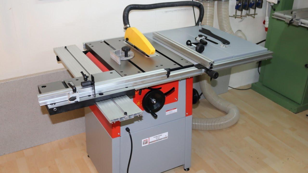 tks tischkreiss ge holzmann ts 250 400 volt unboxing overview aufbau test und