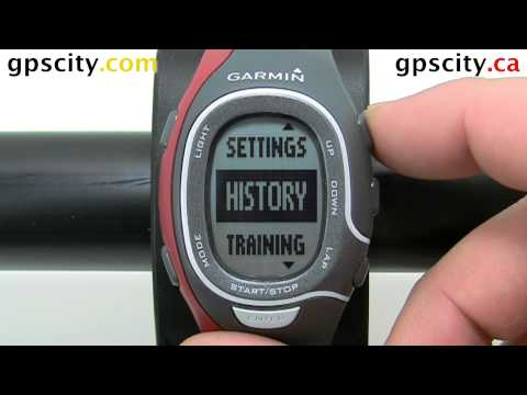 Language Settings In The Garmin Forerunner 60 Training Watch