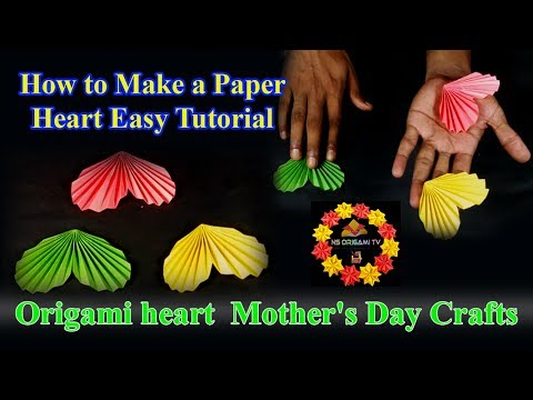 How to make a Coloring paper heart | Easy tutorial | Origami Mother's Day Crafts | NS Oragami Tv