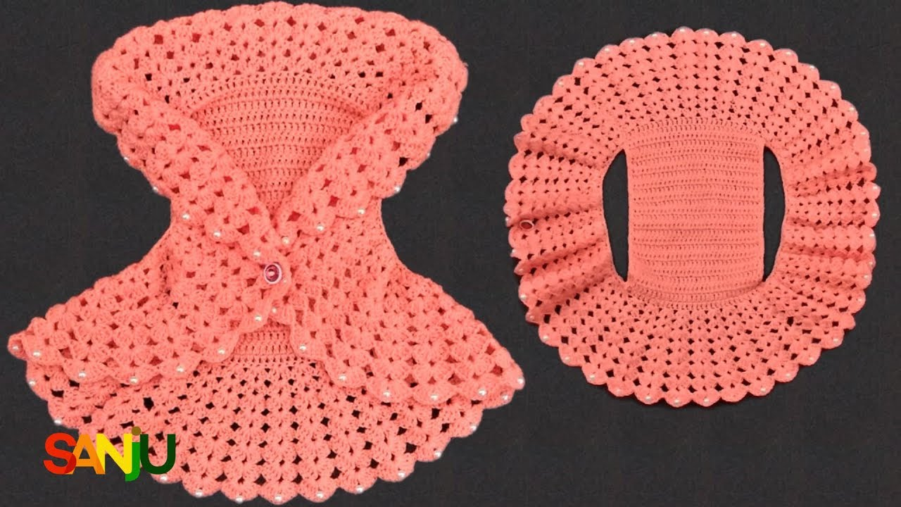 f3d3f5861 Crochet Bolero Jacket for baby girl