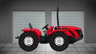 बच्चों के लिए ट्रैक्टर | गेराज - कृषि मशीनरी | निर्माण मशीनों - किसान की कहानी
