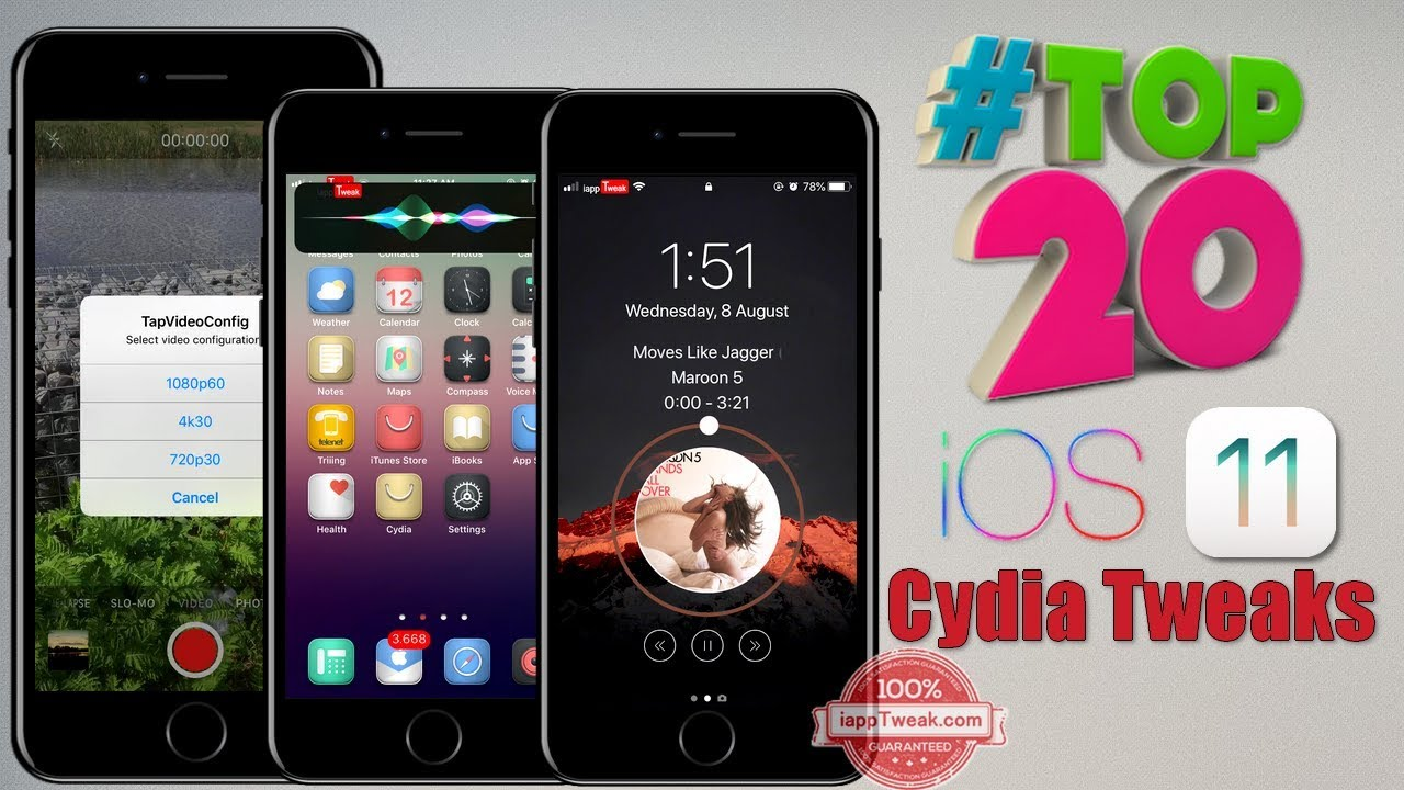 TOP 20 Brand New Cydia Tweaks For iOS 11-iOS 11 4 1