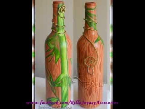 Botellas decoradas recicladas youtube - Botellas de plastico decoradas ...