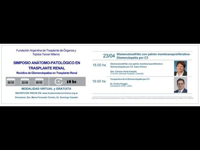Simposio Anátomo-Patológico en Trasplante Renal