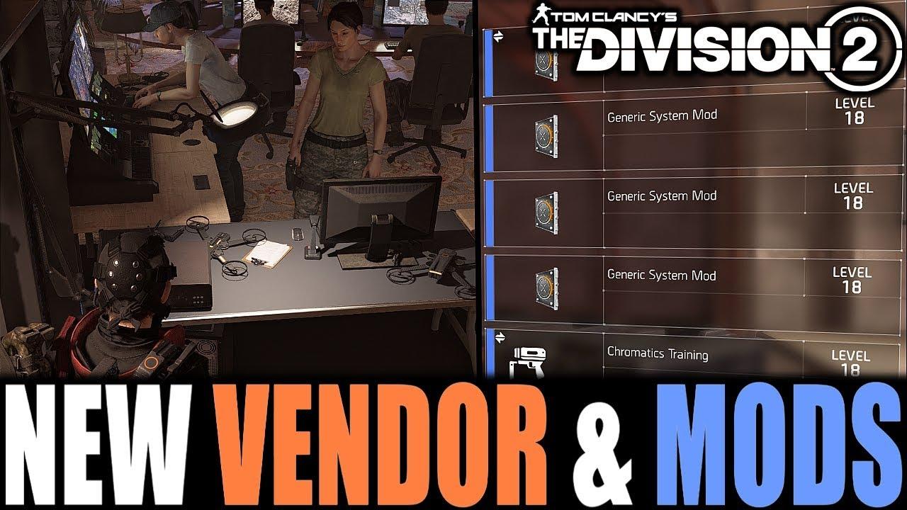 Blueprint Vendor The Division 2