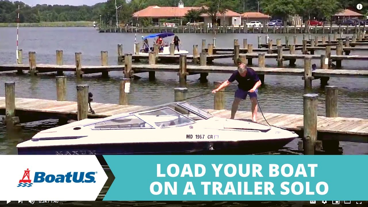 How To Load Your Boat On The Trailer - Trailering - BoatUS