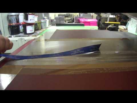 Шелкография - Печать по атласной ленте