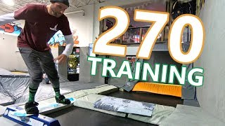 270's On A Tramp Board - Off Season Snowboard Training