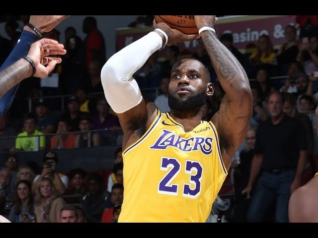 7563604882a LeBron James Makes Los Angeles Lakers Debut In Preseason Action