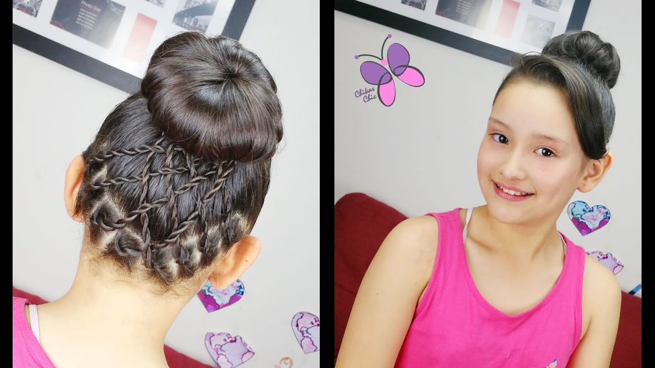 accented high bun | cute hairstyles | hairstyles for school