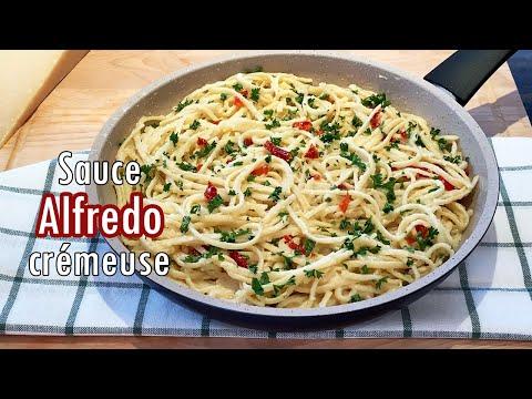 sauce-alfredo-crémeuse,-recette-facile-et-rapide-(fettuccine-alfredo)