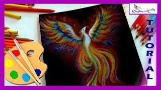 COMO DIBUJAR FÉNIX 🎨  con Lápices de Colores