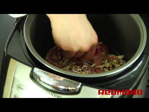 Свинина под сыром в мультиварке REDMOND RMC-M4502