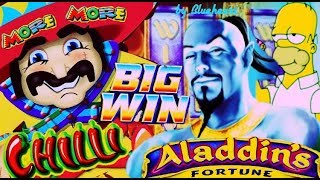 ★ EXCELLENT FULL SCREEN WIN! ★ MORE MORE CHILLI slot ALADDIN'S FORTUNE slot BIG WINS and More!