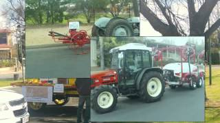 Agricultural and Farming  mechanical machinery through the ages steet parade