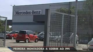 SBT Brasil (01/09/15) Funcionários da Mercedes que estavam em folga remunerada voltam a trabalhar